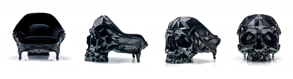 Harow - BLACK Skull Armchair