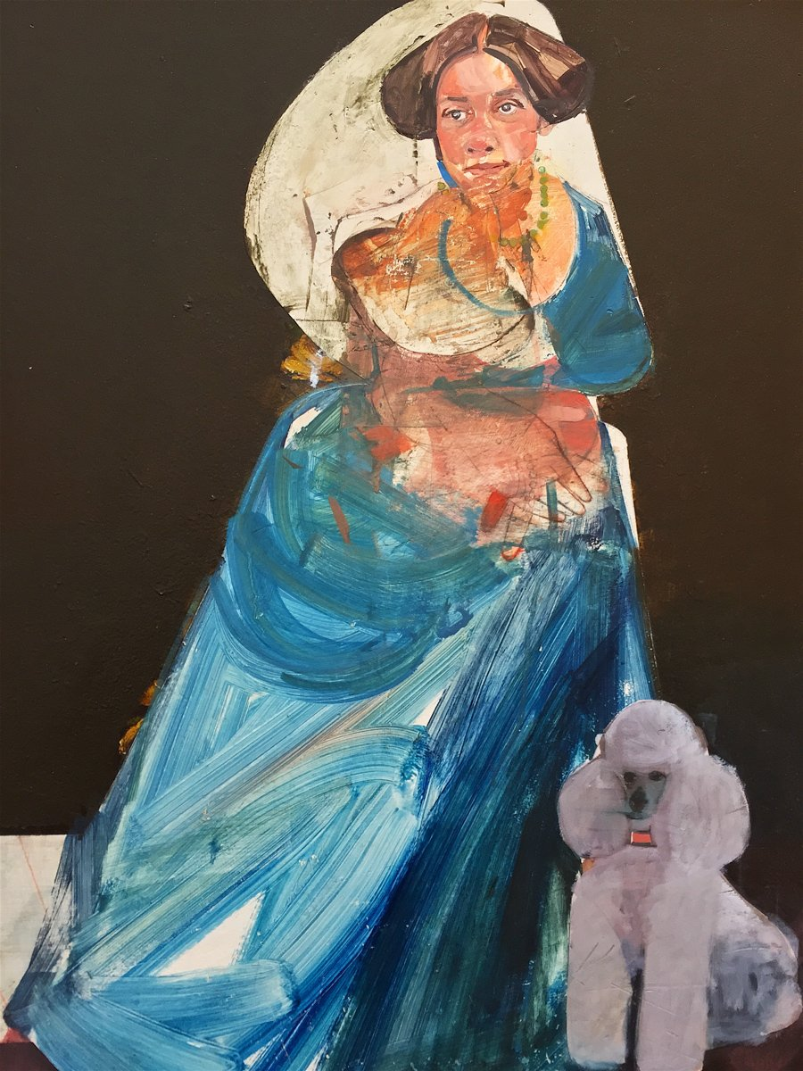Karim Hamid - Portrait of a Lady with Poodle