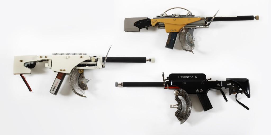 Eric Nado - Typewriter Guns - Art contemporary pop coleccion solo