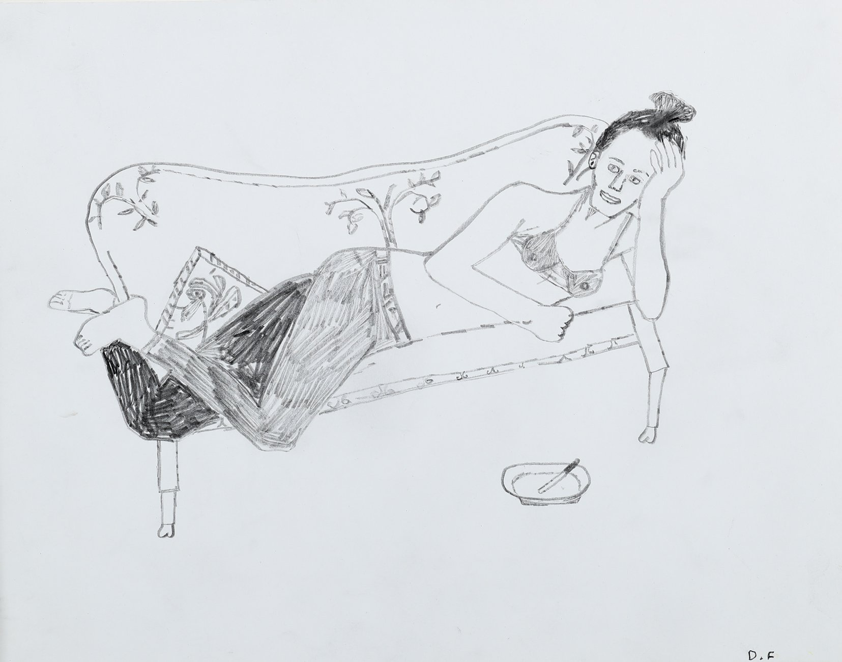 Anna reclining in the Studio