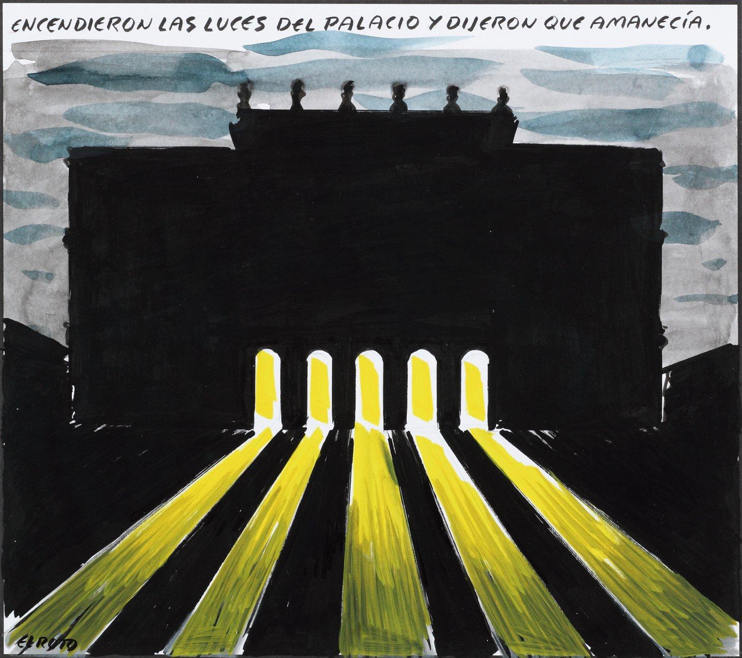 Encendieron las luces del Palacio