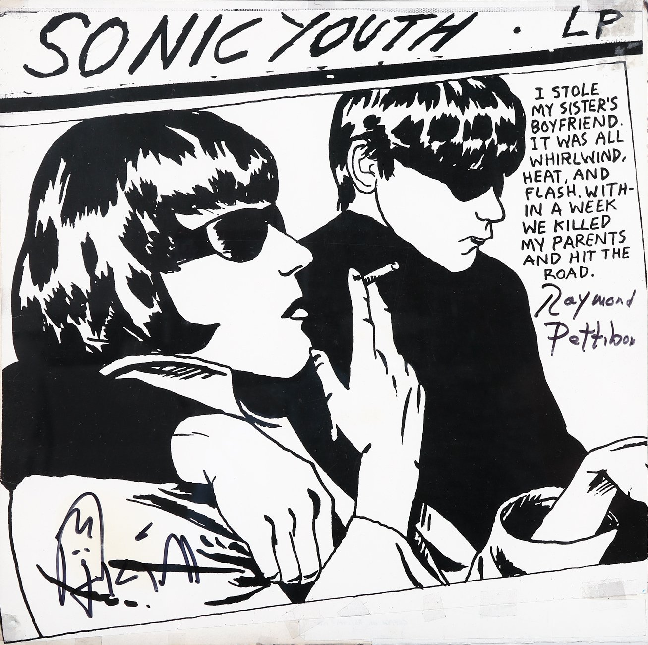 Sonic Youth (Hand signed by both Kim Gordon and Raymond Pettibon)
